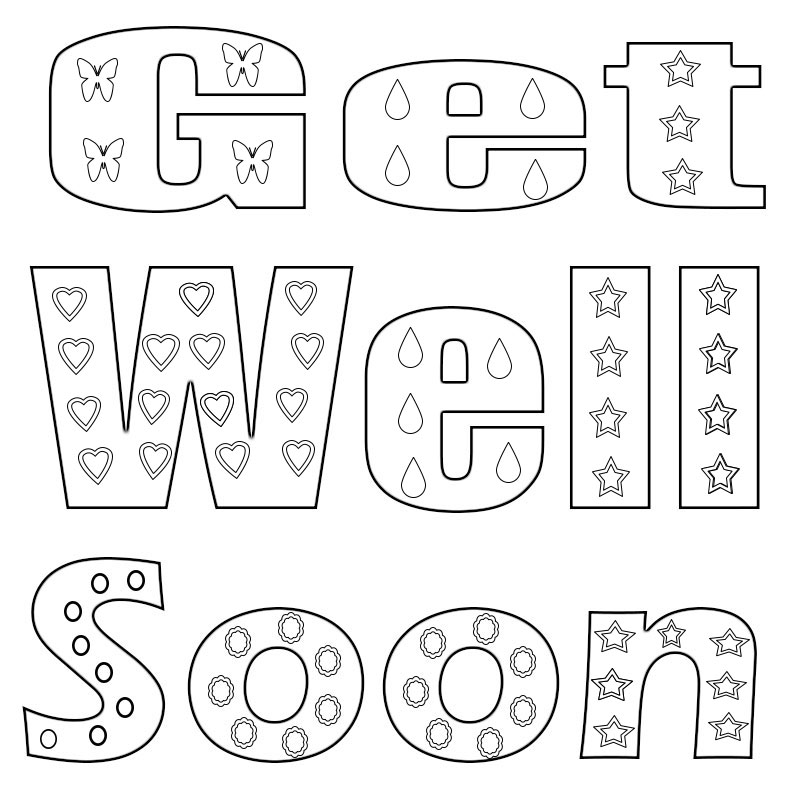 get well soon printable coloring cards get well soon coloring pages to download and print for free cards soon coloring printable get well