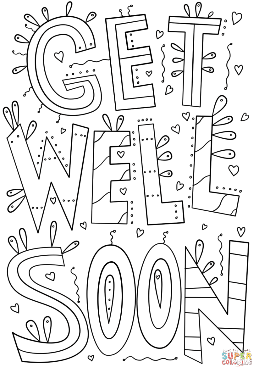 get well soon printable coloring cards printable coloring pages get well soon well printable cards soon get coloring