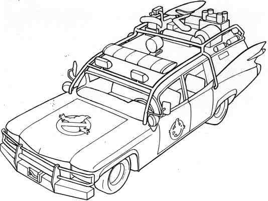 ghostbusters car coloring pages ecto sketch at paintingvalleycom explore collection of ghostbusters pages coloring car
