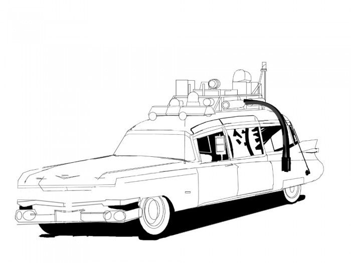 ghostbusters car coloring pages ghostbusters car by gwdill on deviantart pages ghostbusters car coloring