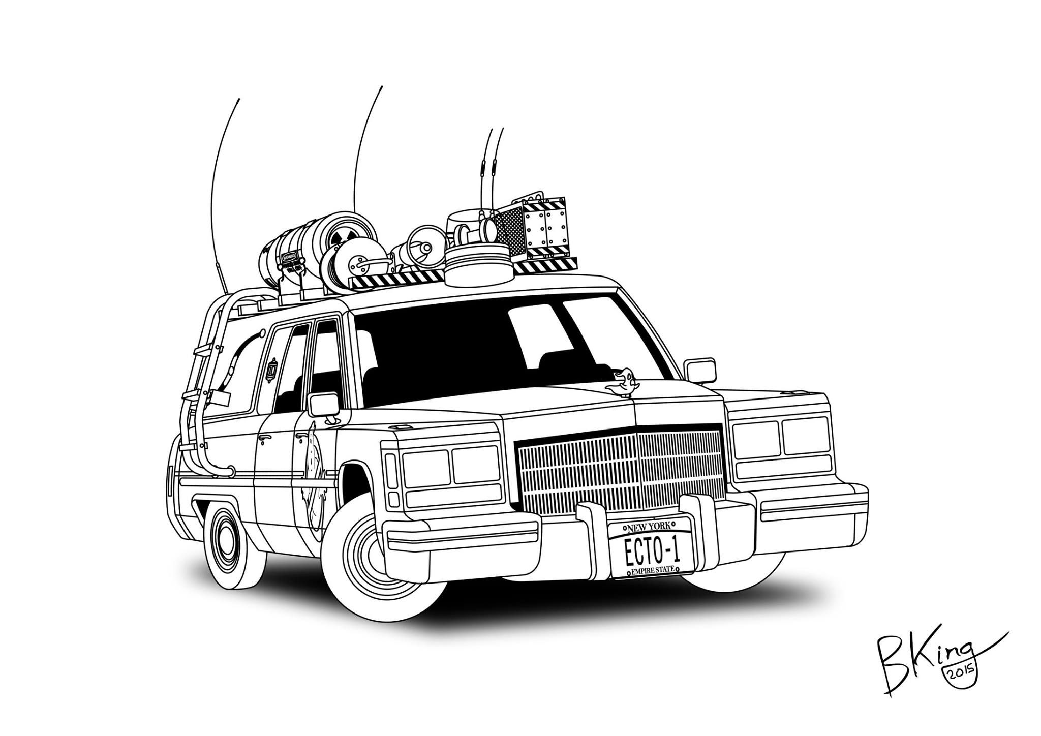 ghostbusters car coloring pages ghostbusters car coloring pages at getcoloringscom free car pages coloring ghostbusters