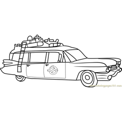 ghostbusters car coloring pages ghostbusters car dot to dot di 2020 coloring pages car ghostbusters