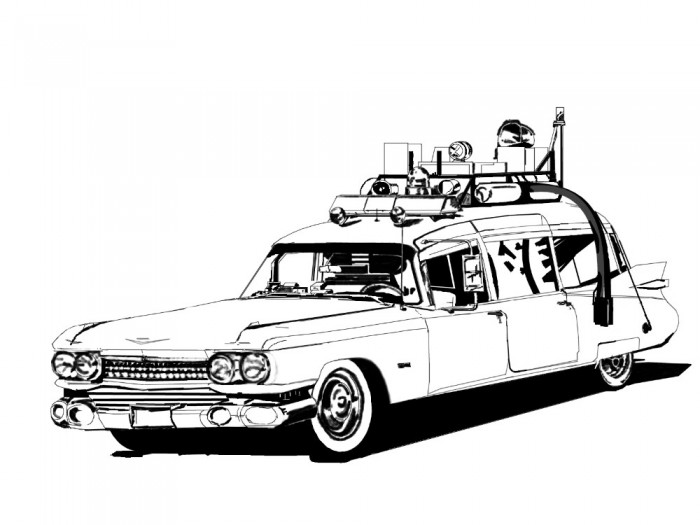 ghostbusters car coloring pages learn how to draw the ghostbusters car ghostbusters step car pages coloring ghostbusters