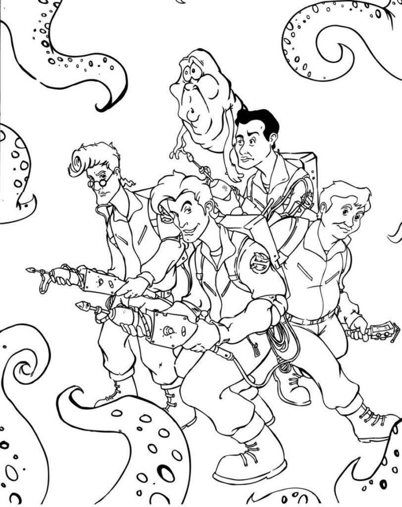 ghostbusters coloring slimer ghostbusters drawing at getdrawings free download coloring ghostbusters 1 2