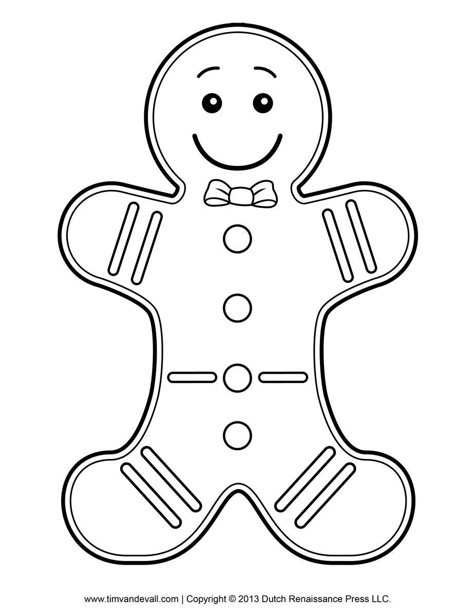 gingerbread outline clipart of a gingerbread man outline clipartsco outline gingerbread