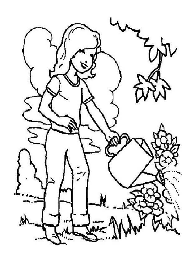 girl dinosaur coloring pages preschool girl watering plants coloring page coloring dinosaur coloring pages girl