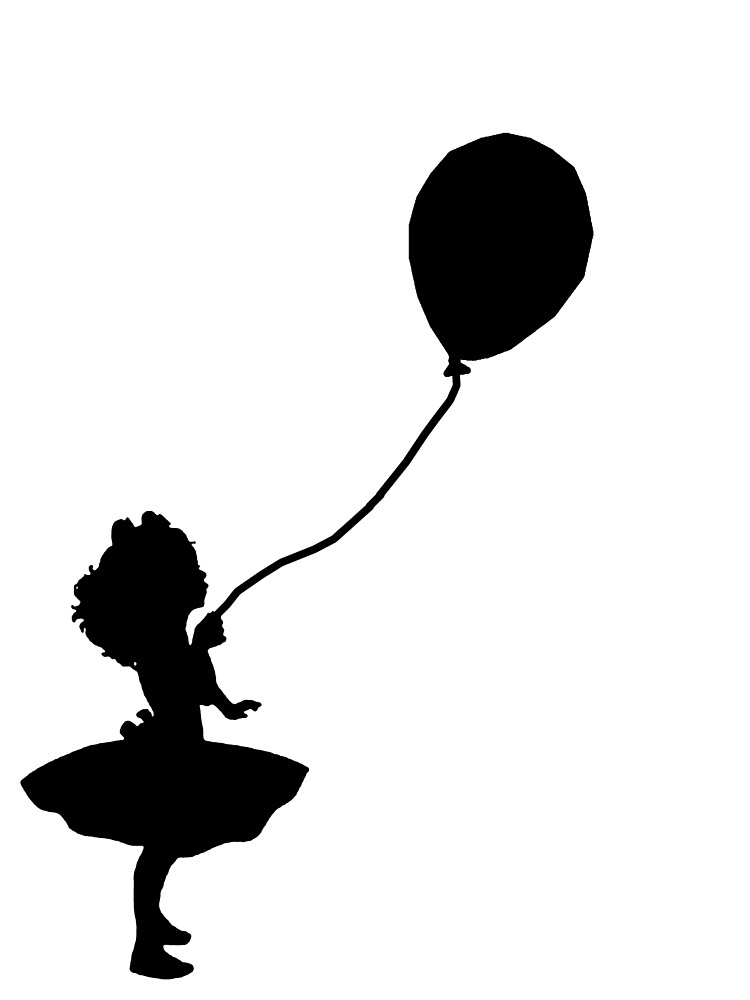 girl holding balloons cropped image of hand showing static hair to girl by holding girl balloons