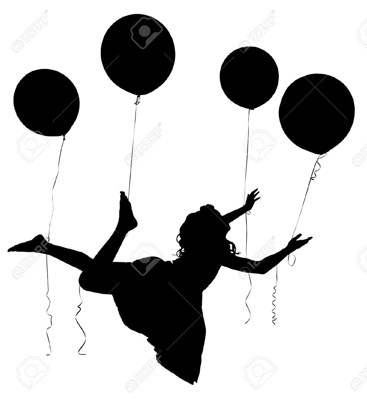 girl holding balloons silhouette woman holding balloon png free silhouette girl holding balloons