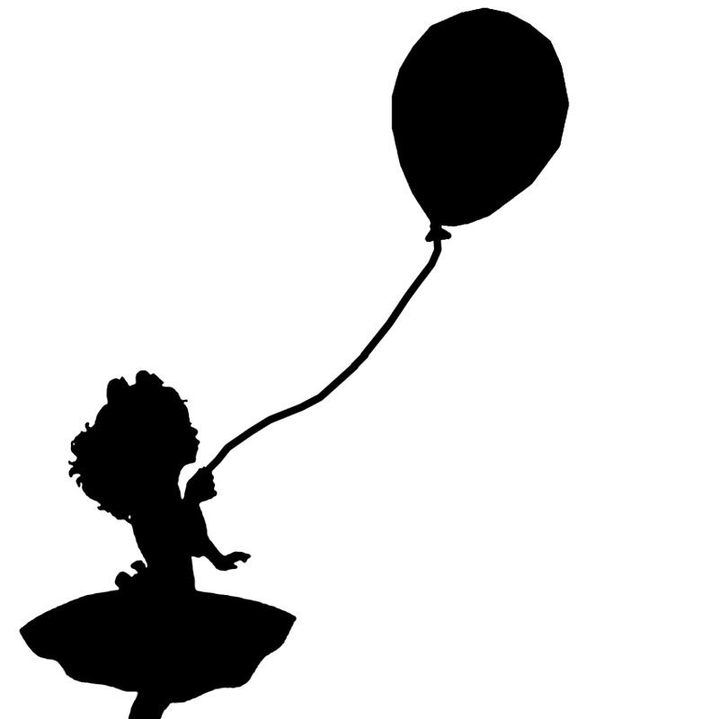 girl holding balloons tattoo inspiration with if a girl flying away like these balloons girl holding