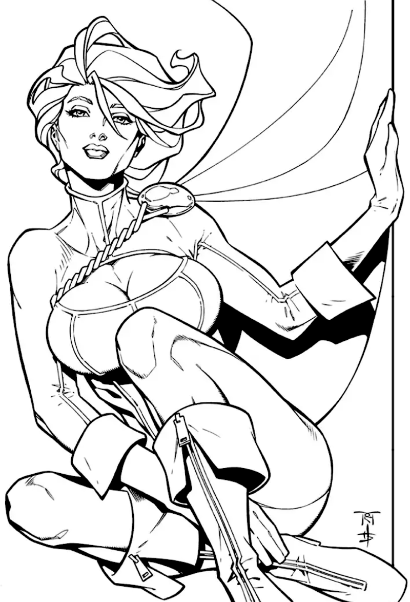 girl power coloring book girl power coloring pages at getcoloringscom free power girl coloring book