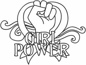 girl power coloring book resist girl power by kat kissick coloring pages printable power book coloring girl