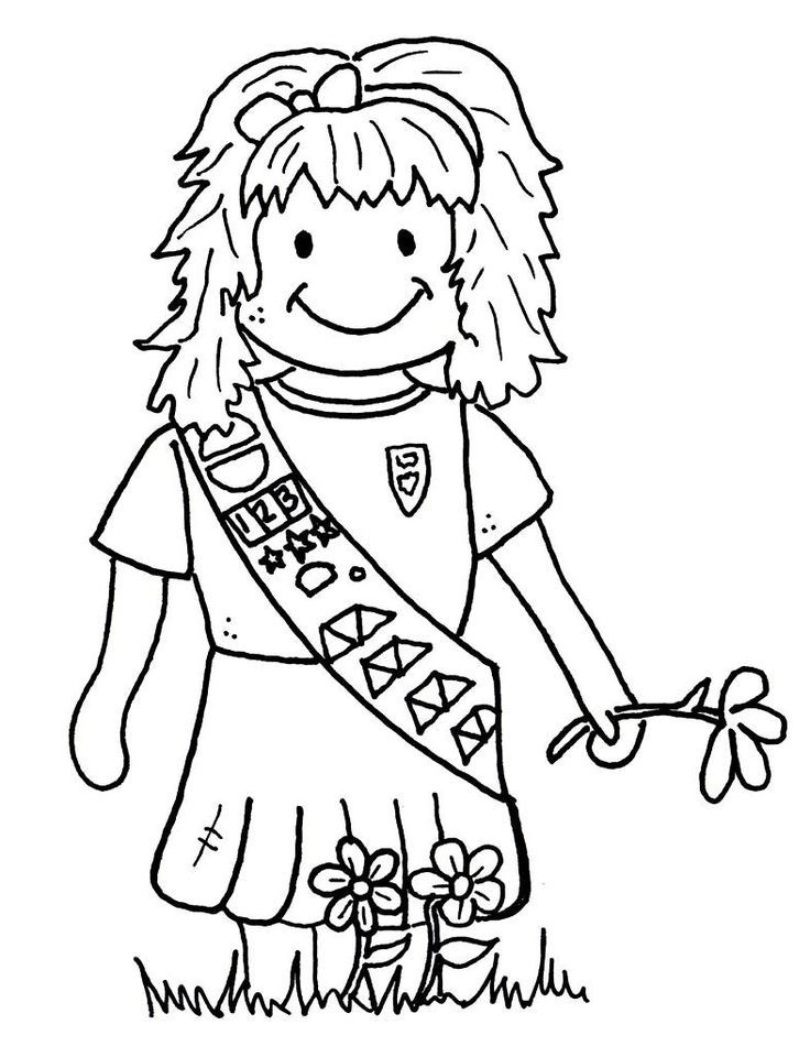 girl scout coloring pages printable 17 best images about girl scouts on pinterest earth day pages scout coloring girl printable