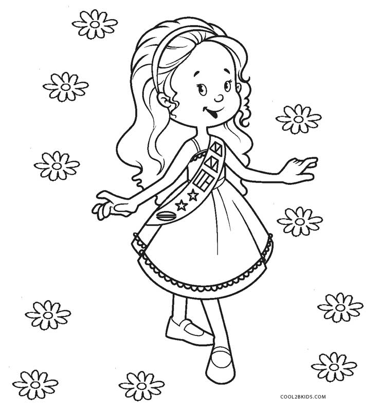 girl scout coloring pages printable brownie girl scout coloring pages coloring home coloring girl printable scout pages