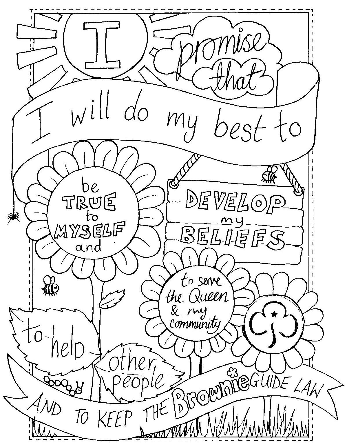 girl scout coloring pages printable girl scout cookie drawing at getdrawings free download pages coloring girl scout printable