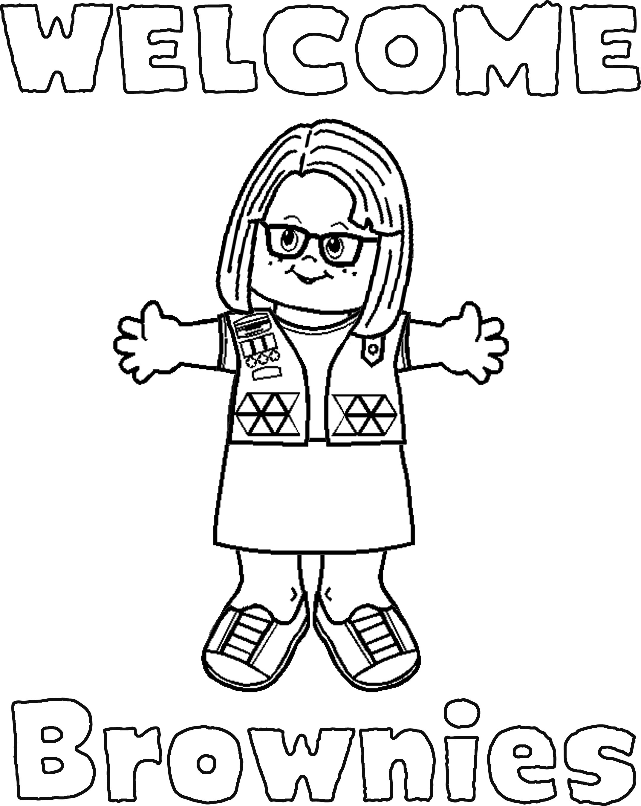 girl scout coloring pages printable girl scouts coloring pages coloring home pages scout coloring girl printable