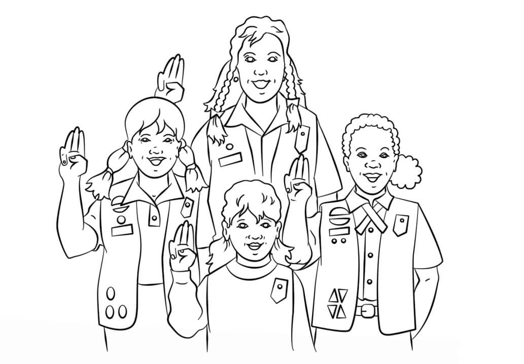 girl scout coloring pages printable girl scouts pledge coloring page free printable coloring pages printable coloring girl scout