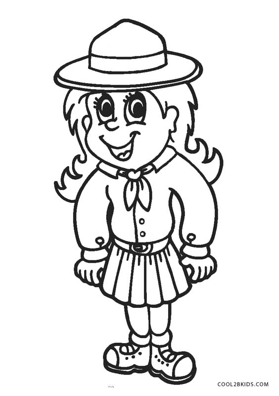 girl scout coloring pages printable pin by elizabeth williams on coloring sheets daisy girl printable coloring girl pages scout