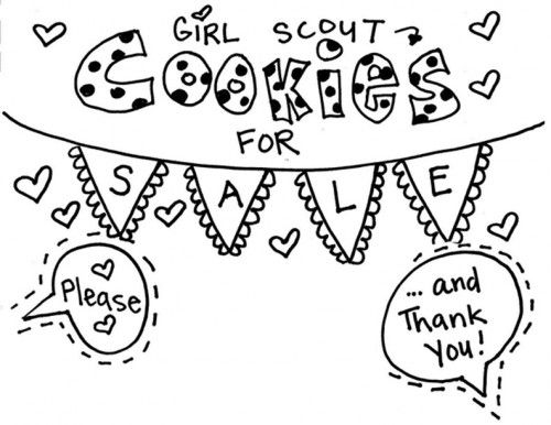 girl scout cookie coloring pages cookie printable 2016 girl scout stuff pinterest coloring pages girl scout cookie