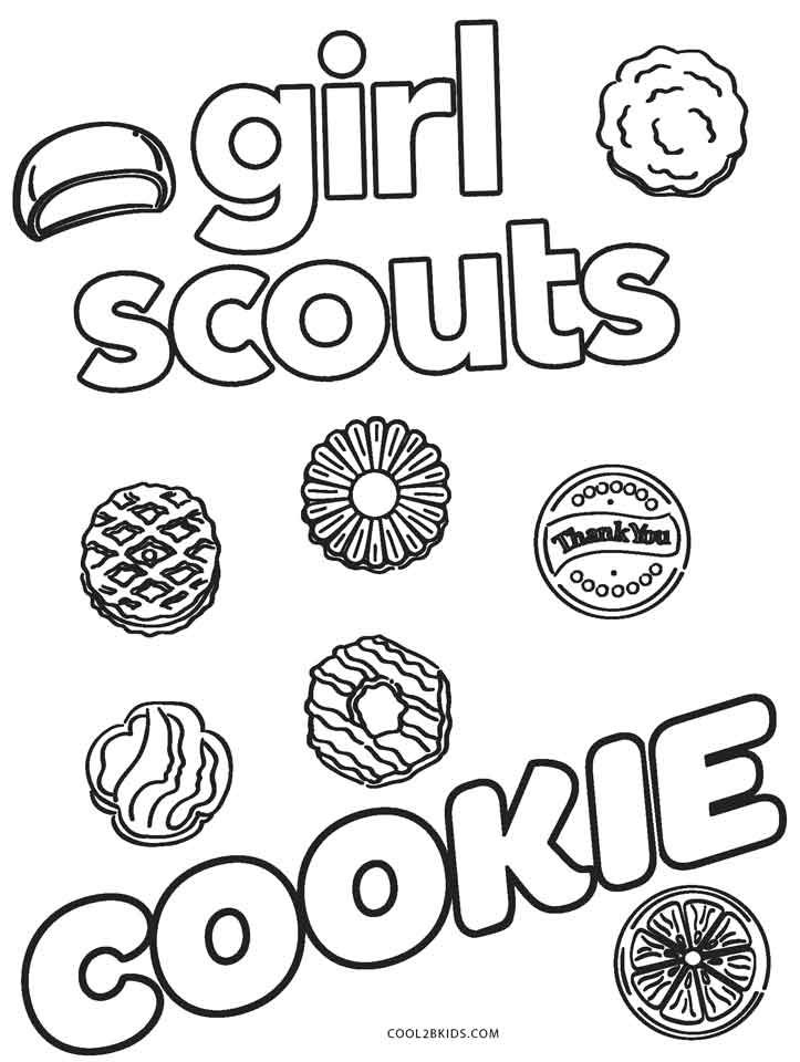 girl scout cookie coloring pages girl scout cookie coloring sheets timeless miraclecom coloring girl scout pages cookie