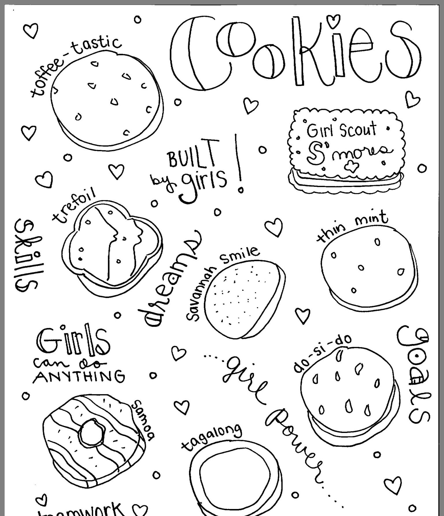girl scout cookie coloring pages the 25 best ideas for abc girl scout cookies coloring cookie pages coloring girl scout