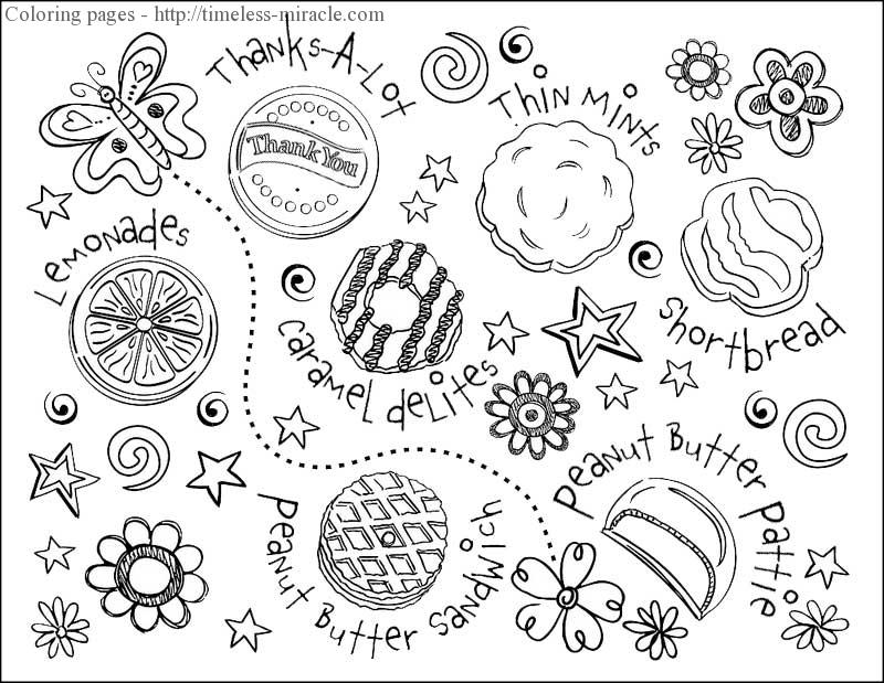 girl scout cookie coloring pages the top 25 ideas about free girl scout cookie coloring cookie pages scout girl coloring
