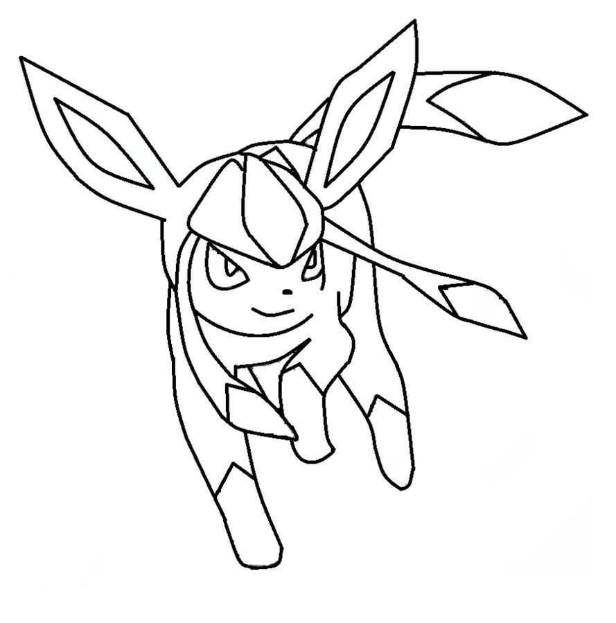 glaceon coloring pages glaceon lineart 1 by michy123 on deviantart pokemon pages glaceon coloring