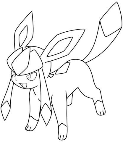 glaceon coloring pages glaceon lineart by poke lines on deviantart glaceon coloring pages