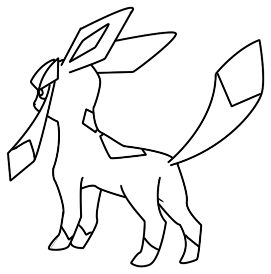 glaceon coloring pages pokemon glaceon coloring pages free pokemon coloring pages glaceon coloring pages