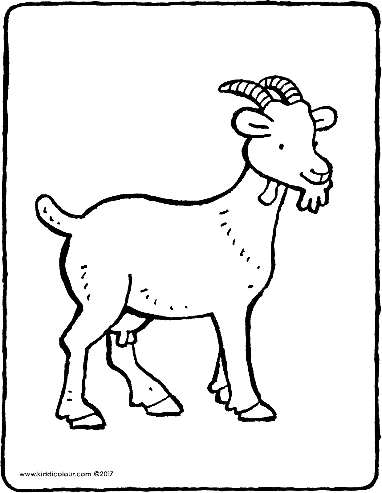 goat colouring picture coloring page goat a symbol of the year colouring picture goat