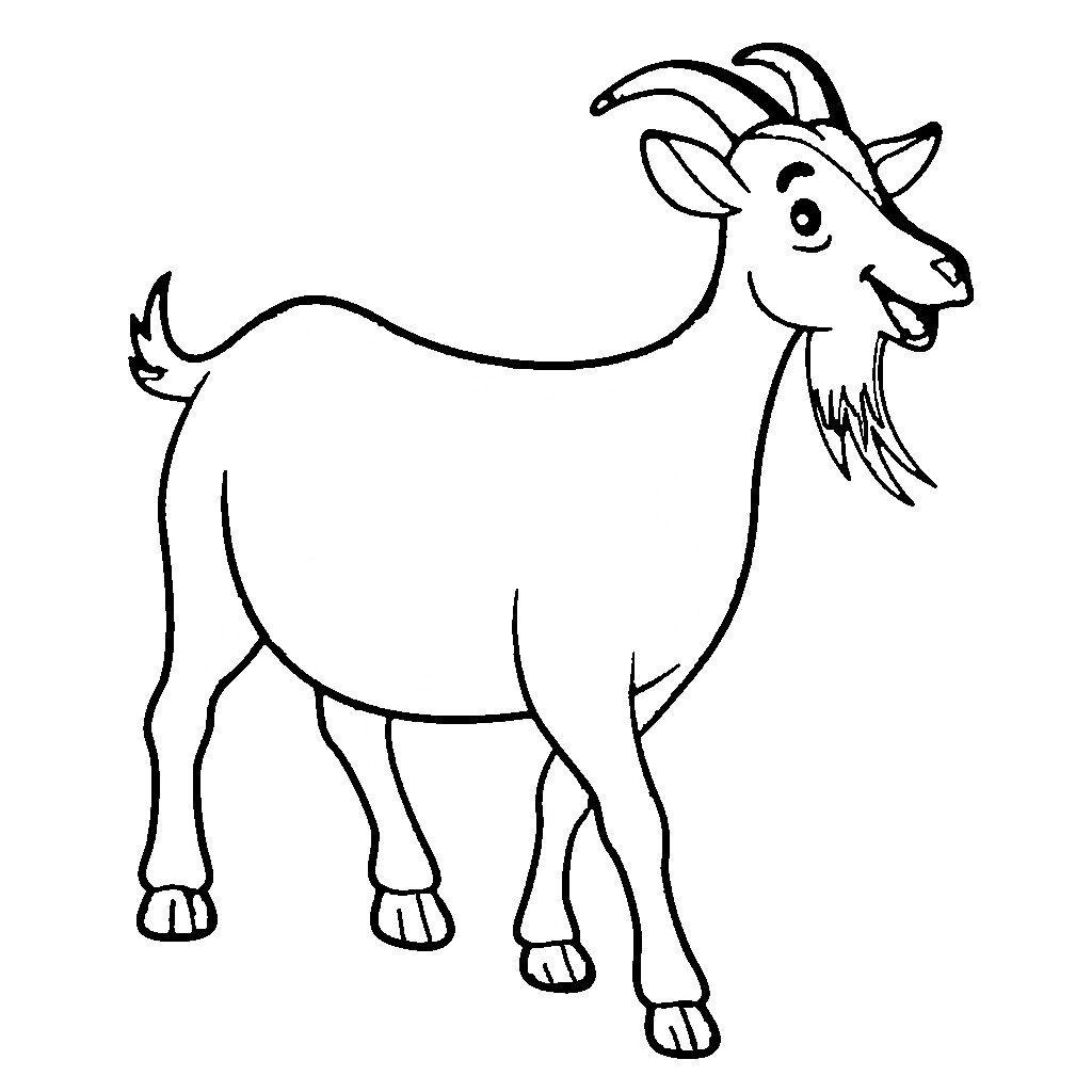 goat colouring picture goat coloring pages coloring pages to download and print goat colouring picture