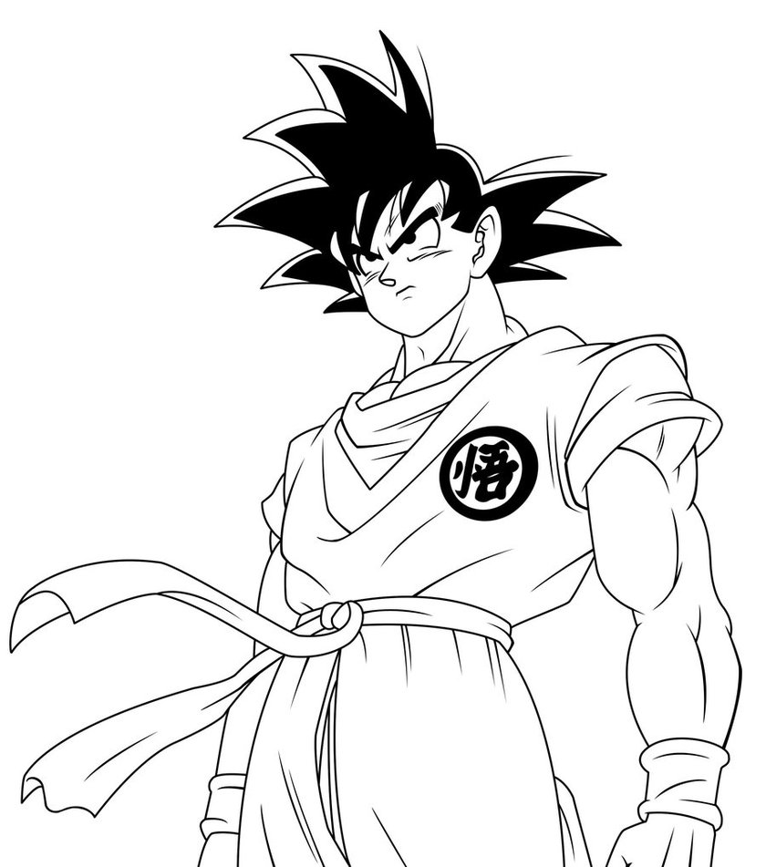 goku pictures to print coloring page dragon ball z goku dragon ball goku goku to print pictures
