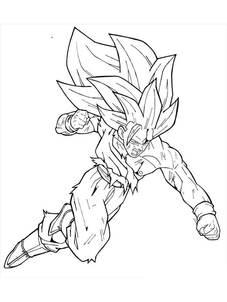 goku pictures to print printable goku coloring pages for kids cool2bkids print pictures to goku