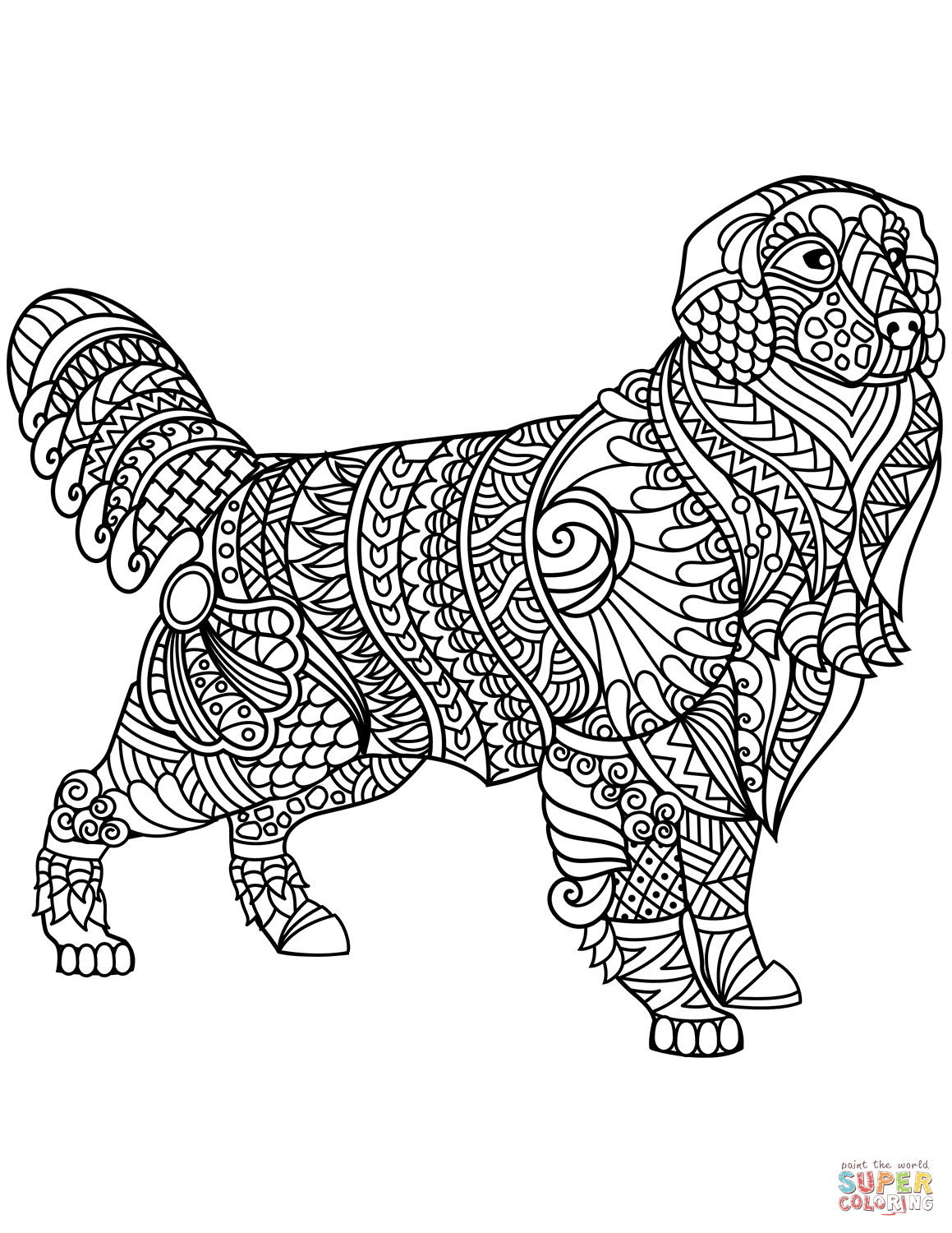 golden retriever coloring page golden retriever drawing at getdrawings free download retriever golden page coloring
