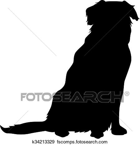 golden retriever sitting silhouette golden retriever silhouette at getdrawings free download golden sitting retriever silhouette