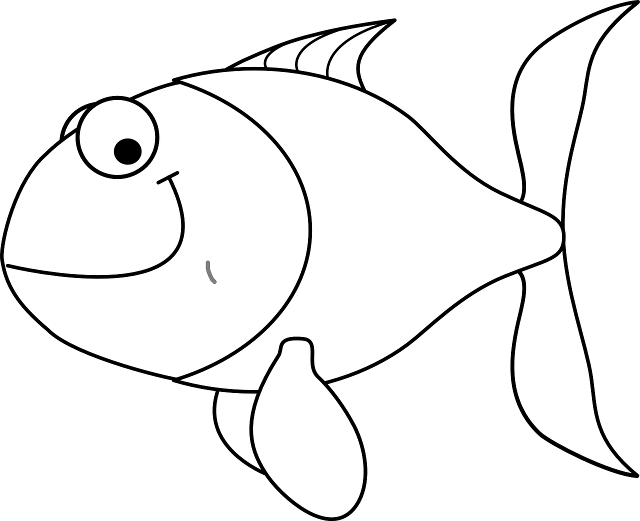 goldfish coloring fish coloring pages for kids 14 pics how to draw in 1 coloring goldfish