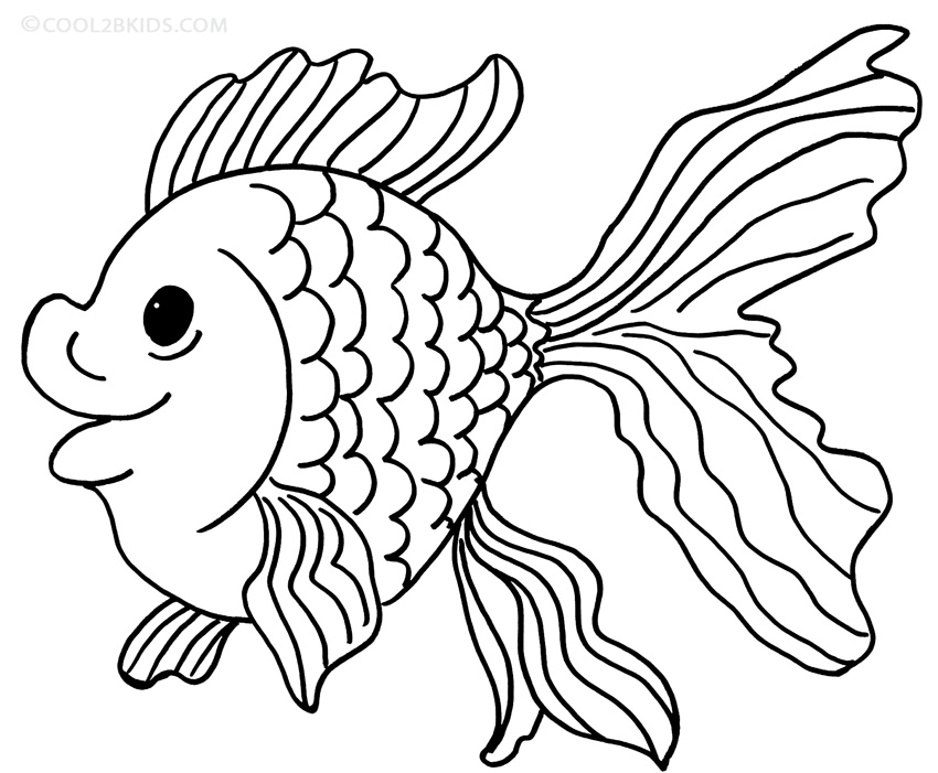 goldfish coloring free printable goldfish coloring pages for kids coloring goldfish