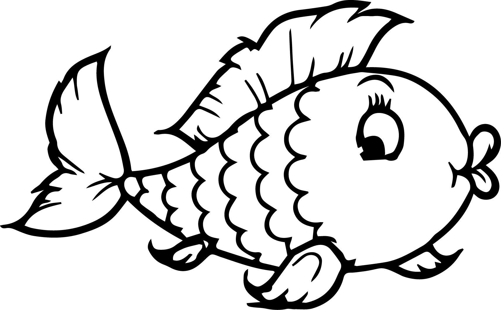 goldfish coloring free printable goldfish coloring pages for kids coloring goldfish 1 1