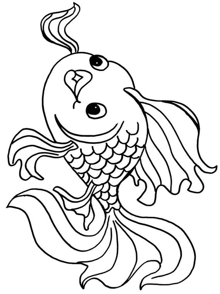 goldfish coloring goldfish coloring pages team colors coloring goldfish 1 1