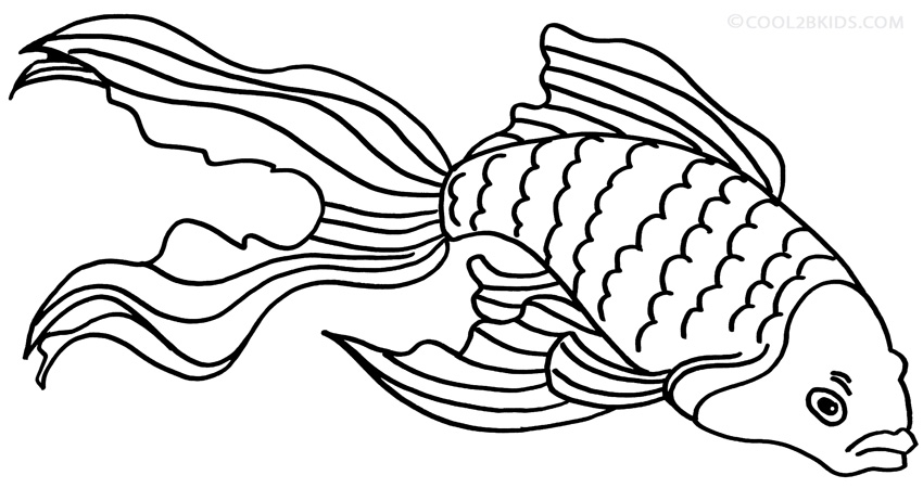 goldfish coloring printable goldfish coloring pages for kids cool2bkids coloring goldfish 1 1