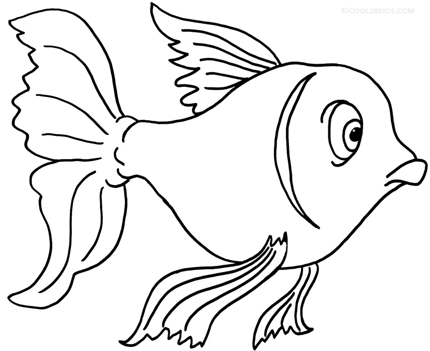 goldfish coloring printable goldfish coloring pages for kids cool2bkids coloring goldfish 1 2