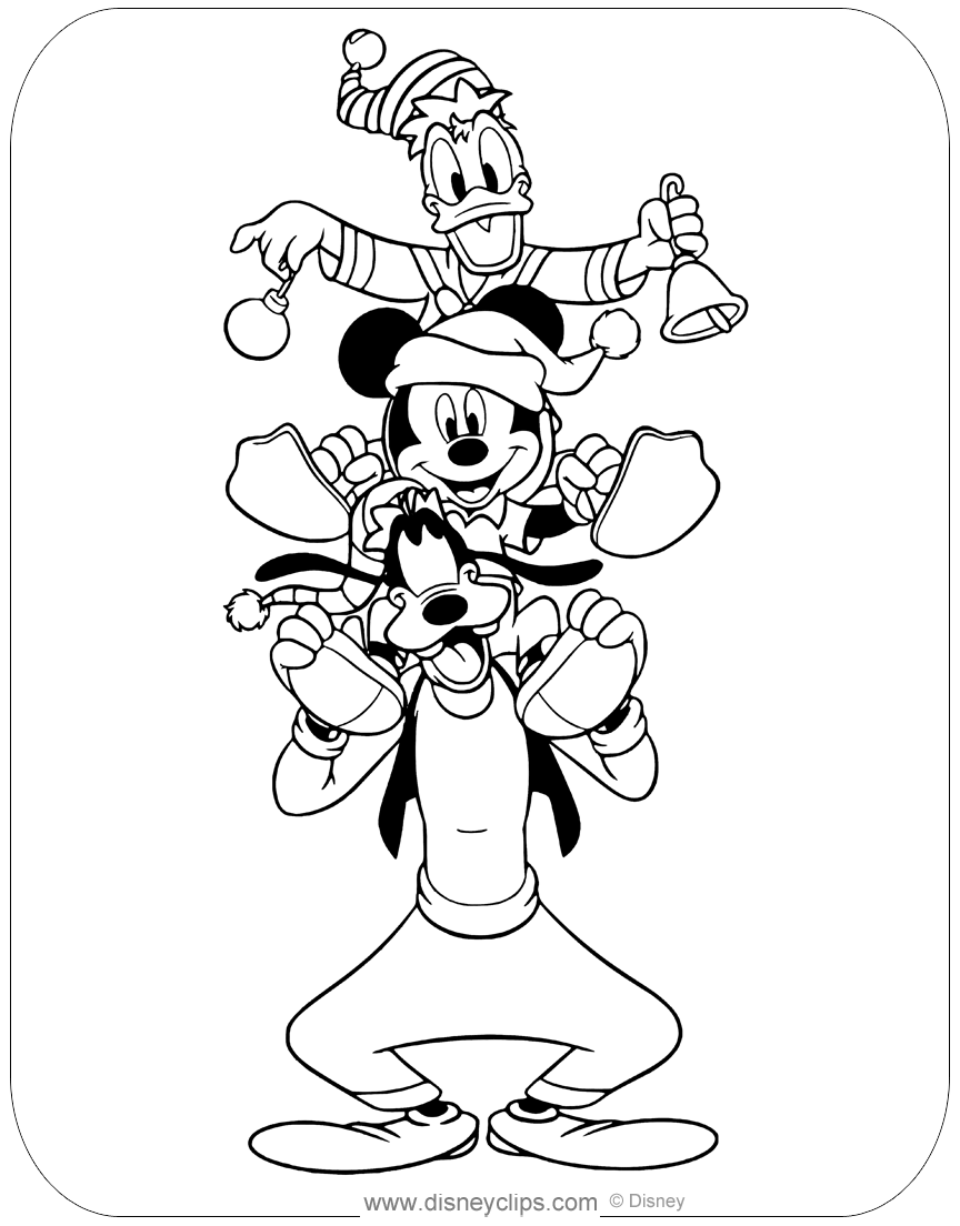 goofy christmas coloring pages disney christmas coloring pages 4 disneyclipscom coloring goofy pages christmas
