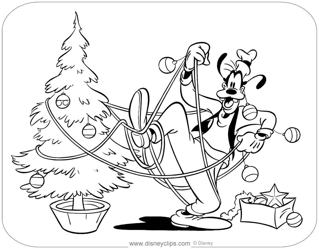 goofy christmas coloring pages disney christmas coloring pages disneyclipscom pages goofy coloring christmas