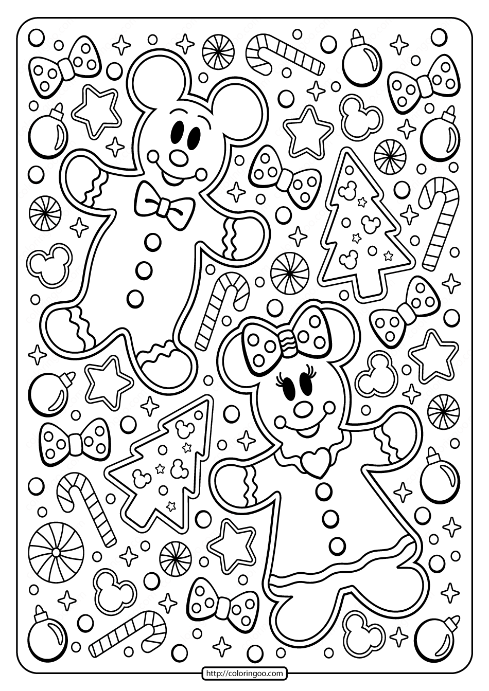 goofy christmas coloring pages mickey minnie mouse holiday coloring page in 2020 coloring goofy christmas pages