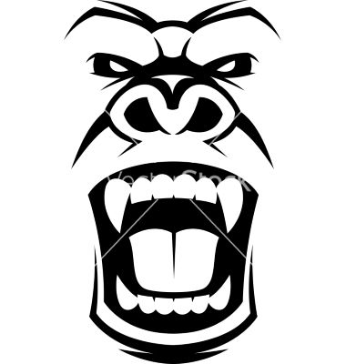 gorilla face coloring pages angry gorilla head vector image on with images pages face coloring gorilla
