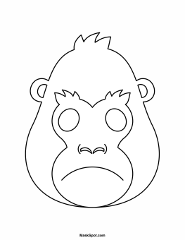 gorilla face coloring pages free gorilla coloring pages coloring gorilla face pages