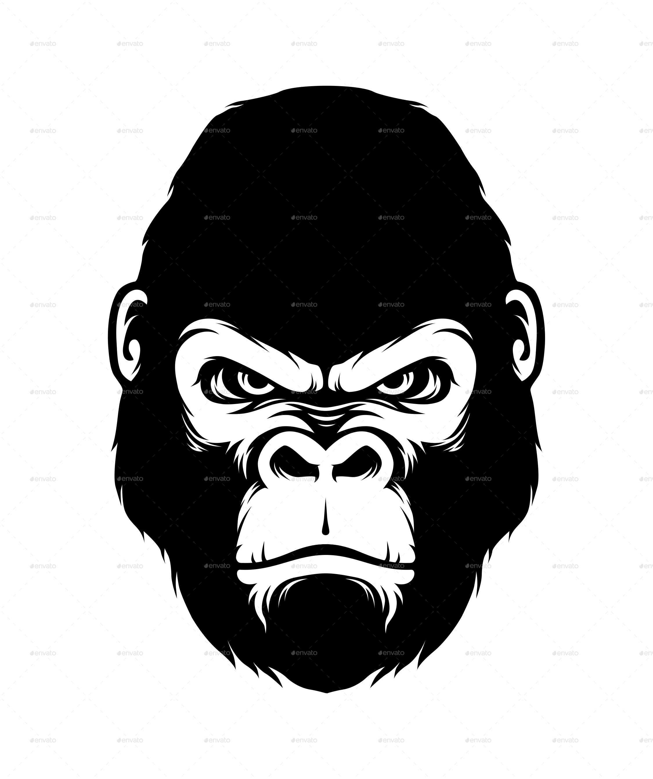 gorilla face coloring pages gorilla head silhouette style a huge zoo animals big gorilla coloring face pages