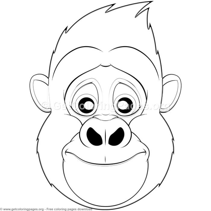 gorilla face coloring pages gorilla mask craft google search preschool activities pages gorilla face coloring