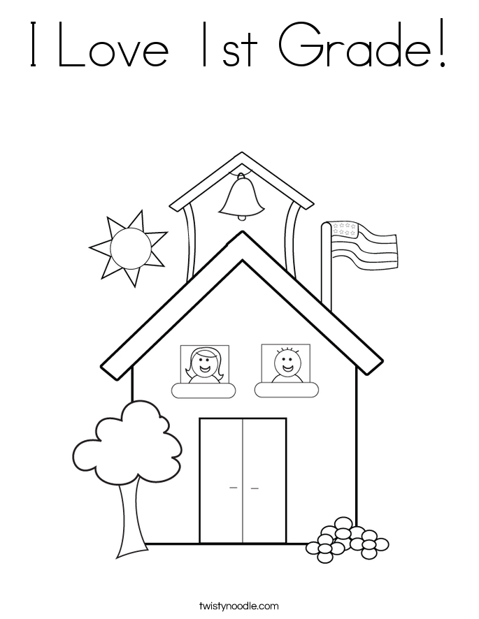 grade 1 coloring pages i love 1st grade coloring page twisty noodle 1 grade coloring pages