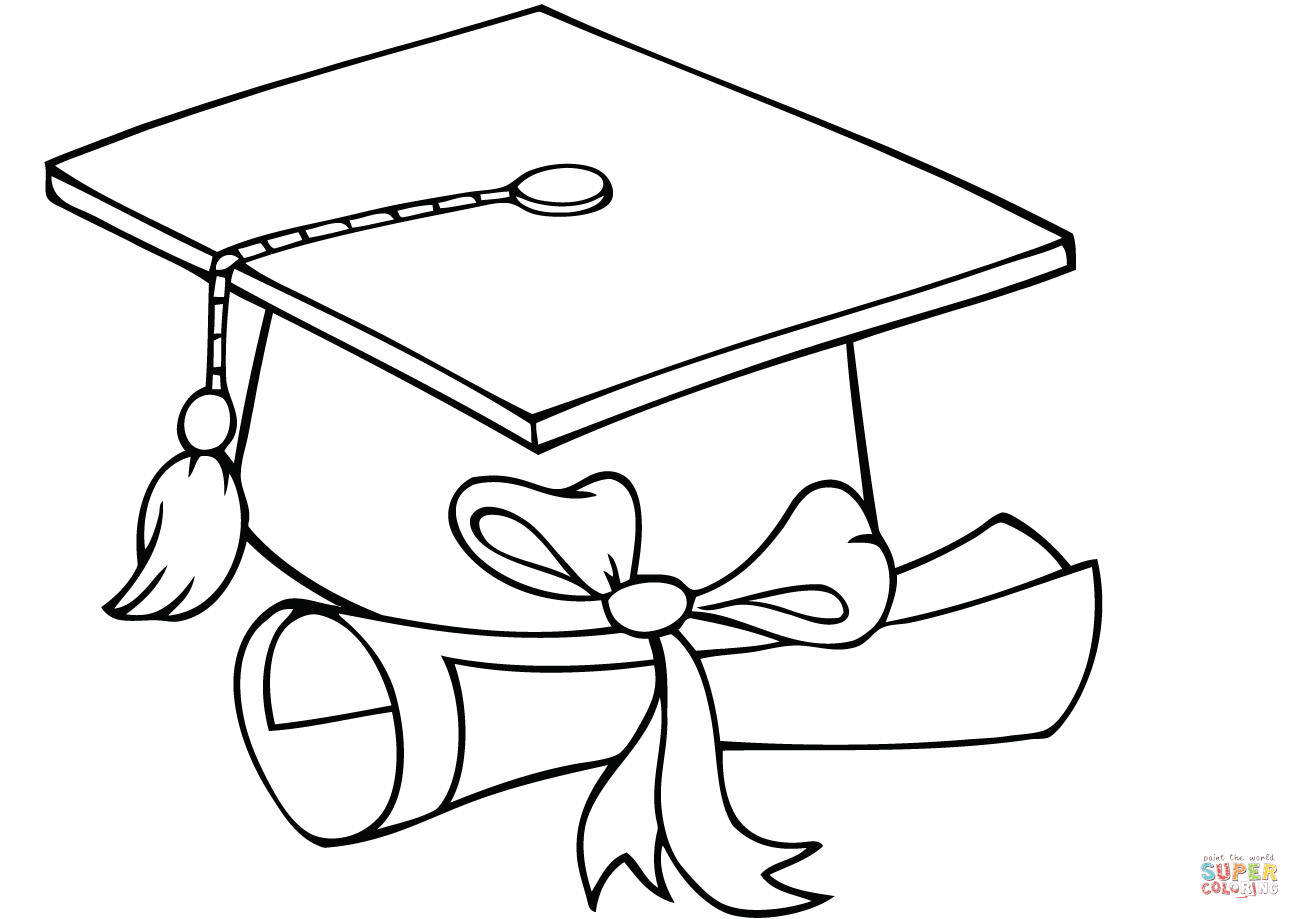 graduation cap and diploma coloring pages graduation cap and diploma template coloring page cap and graduation coloring diploma pages
