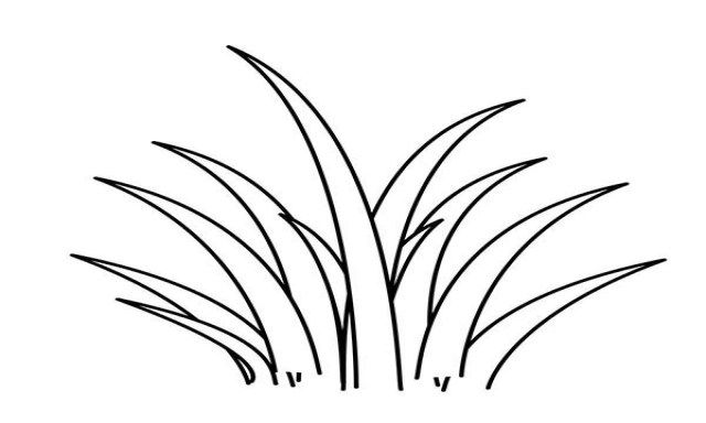 grass coloring images grass icon outline style stock vector illustration of coloring images grass